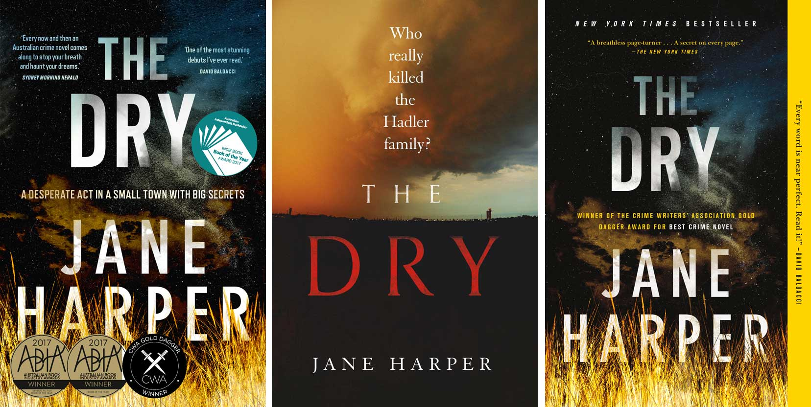 Aus UK US covers for The Dry
